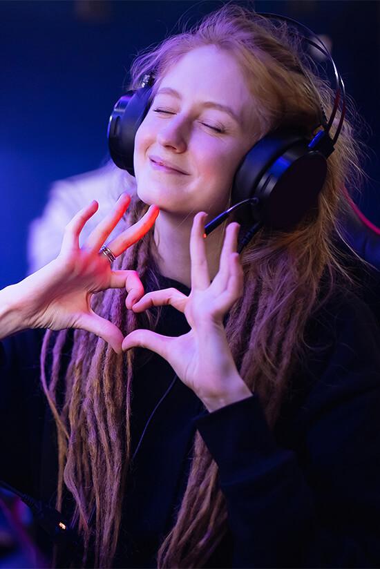 Happy Gamer Girl